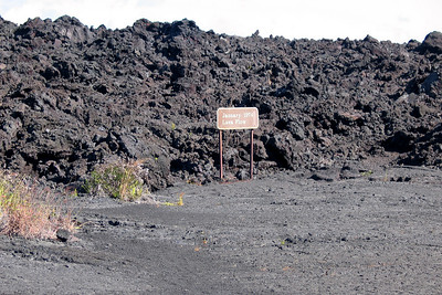 Old Lava Flow in Volcanoes National Park on the Big Island of Hawaii