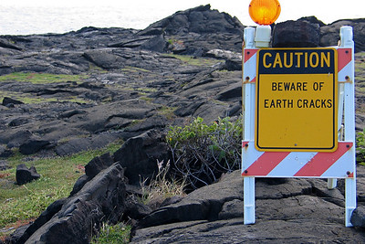 In Volcanoes National Park on the Big Island of Hawaii
