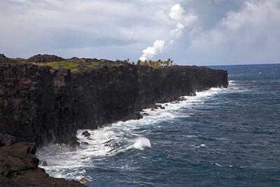 Lava Entering the Ocean