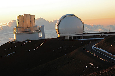 The JCMT 15 m submillimeter telescope and the Caltech 10.4 m submillimeter telescope