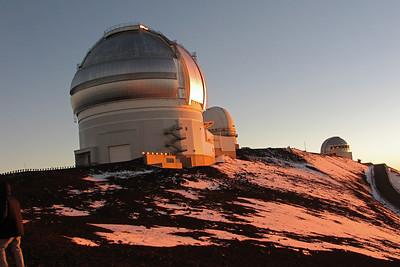 Sunset on the Summit of Mauna Kea