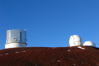 The Subaru 8.2 meter telescope and the twin Keck 10 meter telescopes
