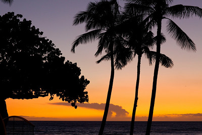 Sunset on the Beach at the Mauna Lani Resort