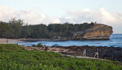 Shipwreck Beach near the Grand Hyatt on Kauai