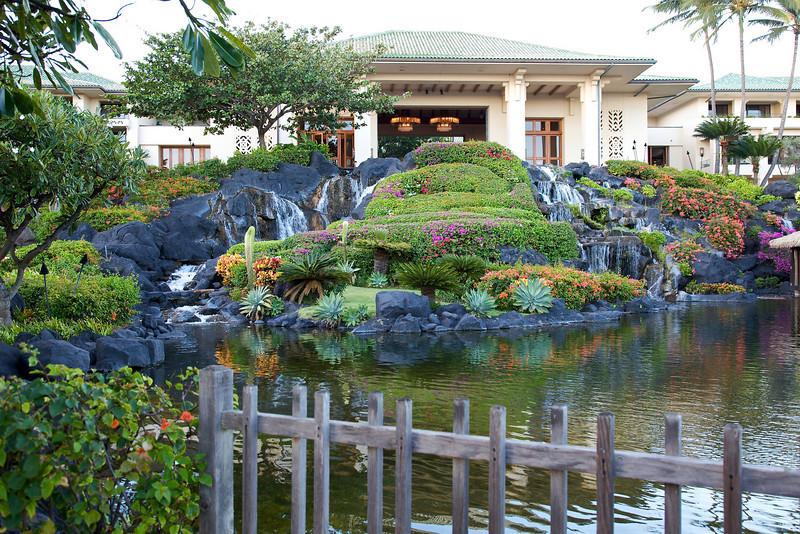 Grand Hyatt on Kauai, one of the many lagoons
