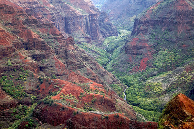 Waimea canyon on the island of Kauai