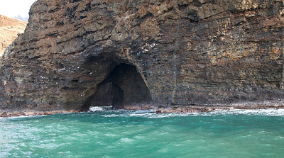 Cave on the Na Pali Coast on the Island of Kauai