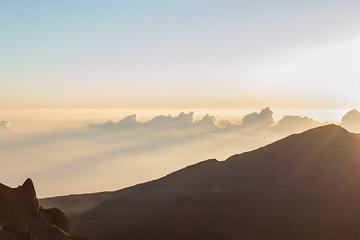 Haleakala Crater at Sunrise Maui April 23, 2013