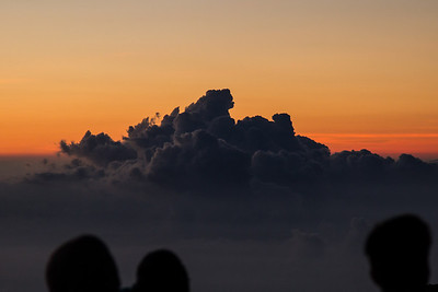 There were lots of people there with us.  Haleakala Sunrise Maui April 23, 2013