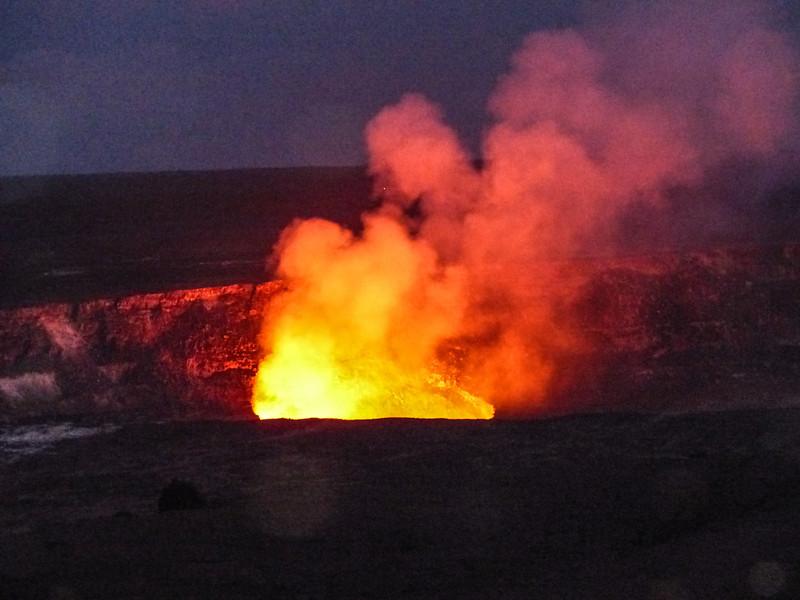 Kilauea Volcano at night