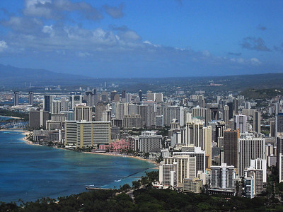 Honolulu Skyline, Hawaiian Islands