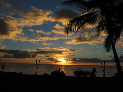Sunset at Oahu, Hawaiian Islands