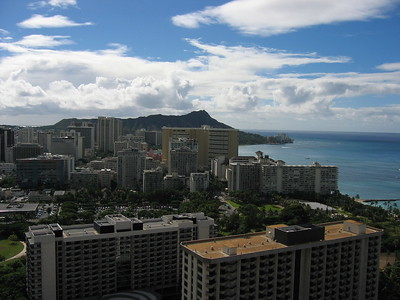 Waikiki skyline, Hawaiian Islands