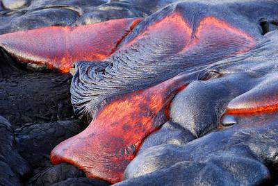 Pahoehoe lava