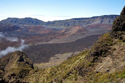 View from the Leleiwi Overlook on Haleakala.