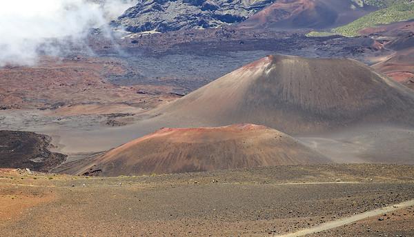 Cinder cones in the summit valley on Haleakala.