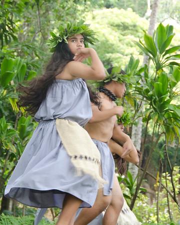 moving hula girl gray 1595