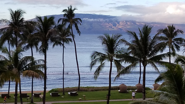 The island in the background is Lanai.