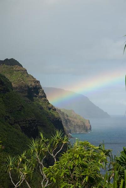 Rainbow on the Napali Coast