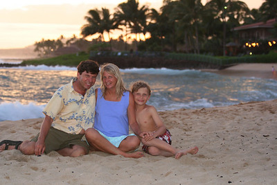 Our family on Poipui Beach.