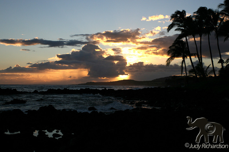 Sunset from Poipu Tidal Pools