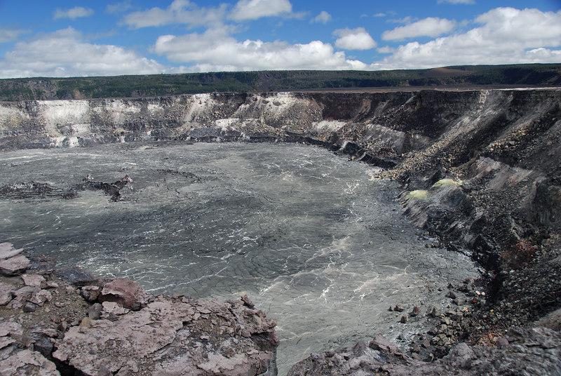 A view inside Halema'uma'u Crater.
