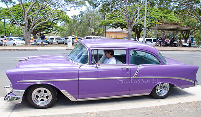 Wayne's 56 Chevy  purple 0612 8445