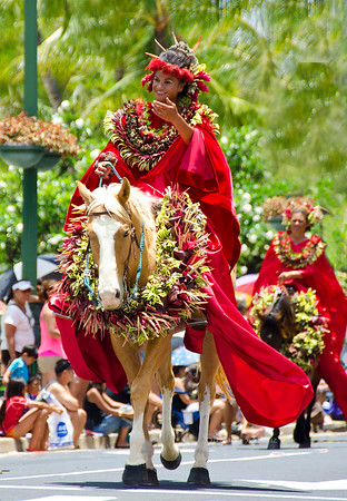 Princess of Hawaii  on horse 8273