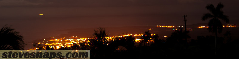 Kona at night seen from Holualoa