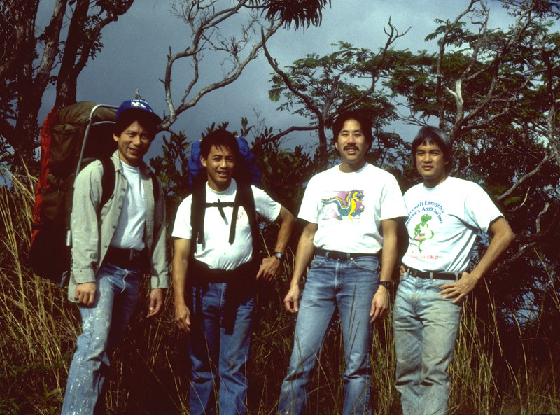 Tom, Jim, John Mar, and me.
