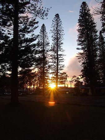 Lanai City Sunset