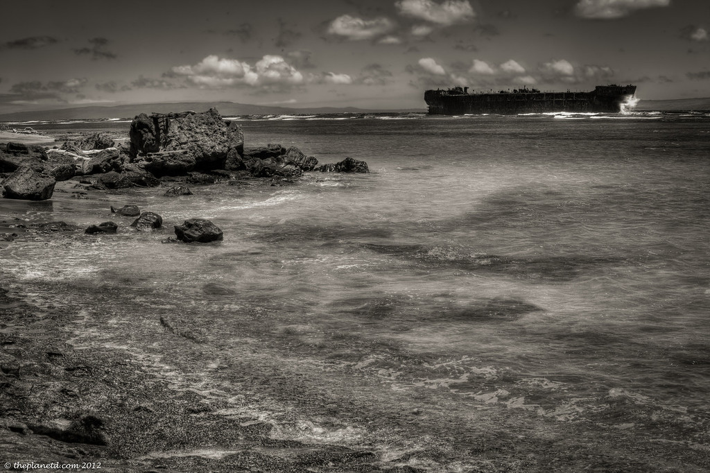 Shipwreck Beach off the coast of Lanai