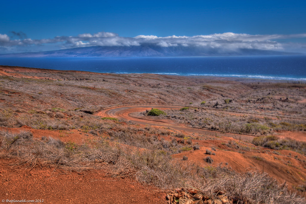 A view of Molokai from Lanai