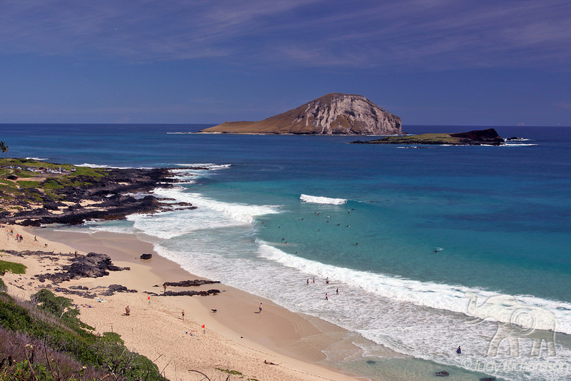 Manana Island (Rabbit Island) and Kaohikaipu Island (Turtle Island) from view point over-looking Makapu'u Beach