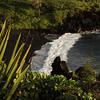 The black sand beach at Wai'anapanapa State Park