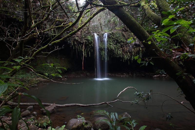 Twin Falls at dusk. Maui, HI