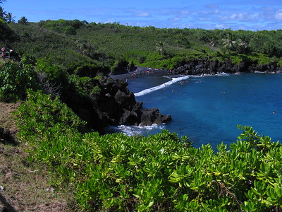 Waianapanapa Black Sand Beach near Hana, Maui, Hawaiian Islands