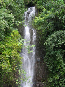 Waterfall along the Road to Hana, Maui, Hawaiian Islands
