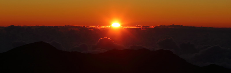 "Sunrise from Haleakala, a Maui tradition. Haleakala means ""House of the Sun."""
