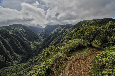 Waihee Valley from the Waihee Ridge Trail, Maui