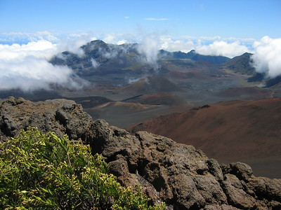Above the clouds, Haleakala Crater, Maui, Hawaiian Islands