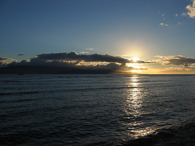 Sunset at Lahaina, Maui, Hawaiian Islands