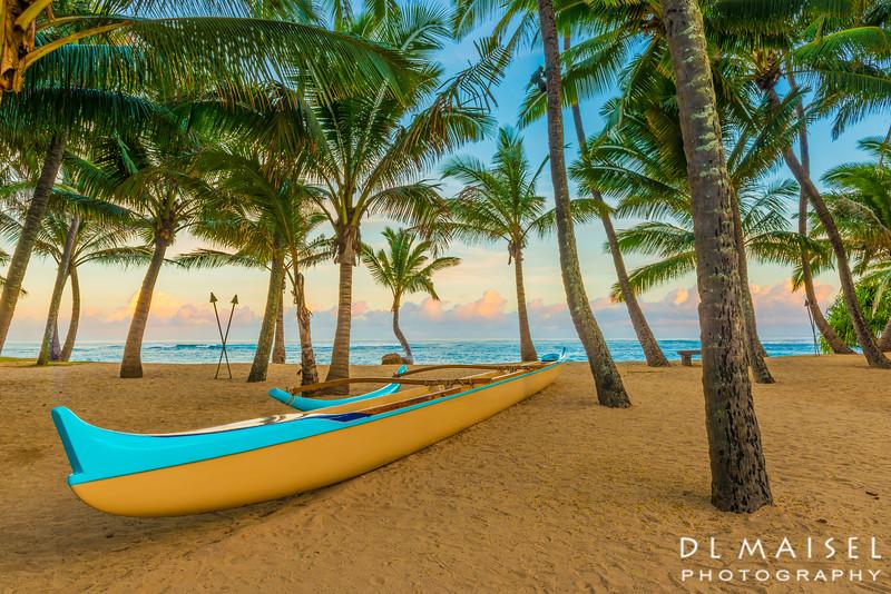 Outrigger canoe Kua'u Cove