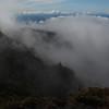 Clouds flowing along the slopes of the Ko'olau Gap, Haleakala National Park, Maui, Hawaiian Islands