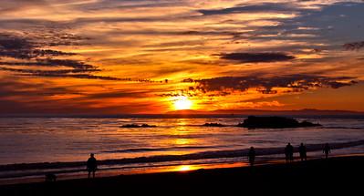 Sunset at Laguna Beach, California