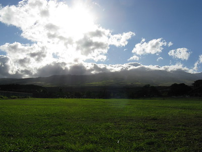 West Maui Mountains in the morning