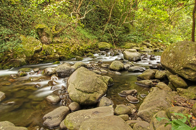 Iao stream, Iao Valley, Maui, Hawaii