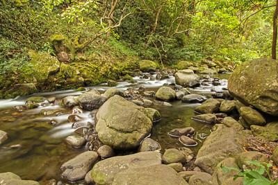 Iao stream, Iao Valley, Maui, Hawaii
