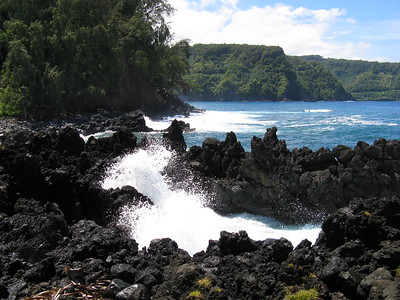 Crashing Waves in Keanae, Road to Hana, Maui, Hawaiian Islands