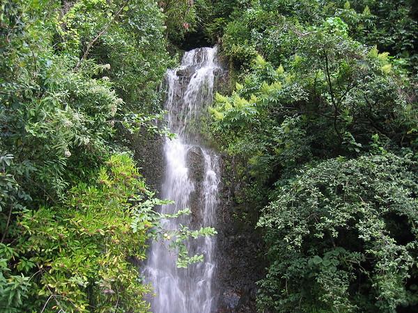 Waterfall Along the Road to Hana, Maui, Hawaiian Islands